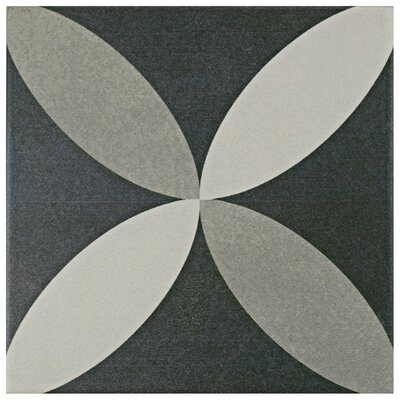 Forties 7.75 x 7.75 Ceramic Field Tile in Petal Gray