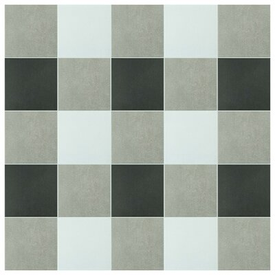 Forties 7.75 x 7.75 Ceramic Floor and Wall Tile in White