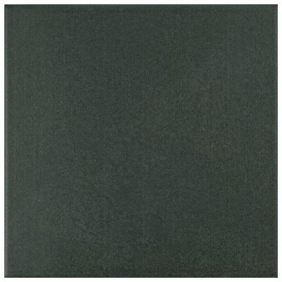 Forties 7.75 x 7.75 Ceramic Field Tile in Black/Charcoal