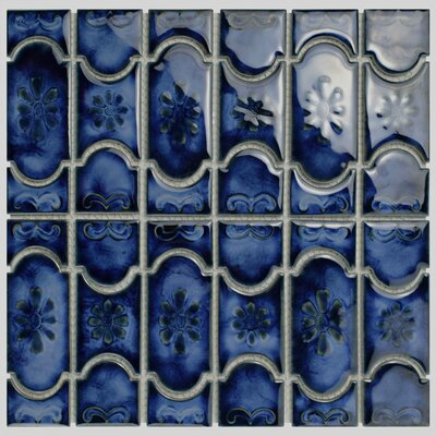 Mondego Porcelain Mosaic Tile in Blue