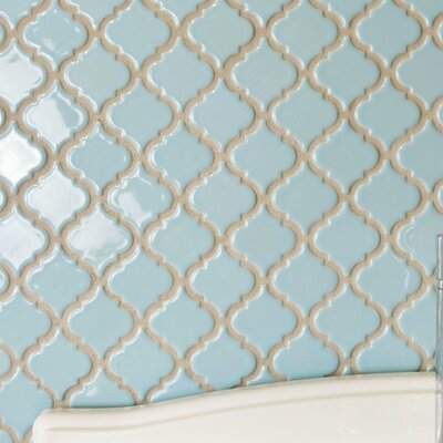 Pharsalia 12.38 x 12.5 Porcelain Mosaic Floor and Wall Tile in Cashmere Blue