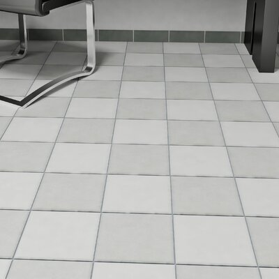 Forties 7.75 x 7.75 Ceramic Floor and Wall Tile in Gray
