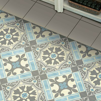 Evaso 17.63 x 17.63 Ceramic Field Tile in Azul