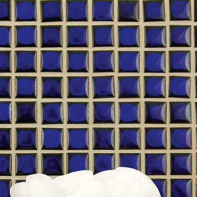 Morgan .75 x .75 Porcelain Mosaic Floor and Wall Tile in Cobalt