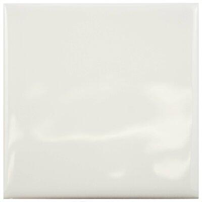 Contour Square 3.75 x 3.75 Ceramic Field Tile in Soft Cream