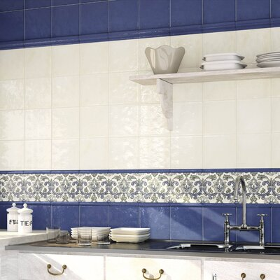 Avaricon Giorno 7.88 x 0.88 Ceramic Quarter Round Tile Trim in Blue