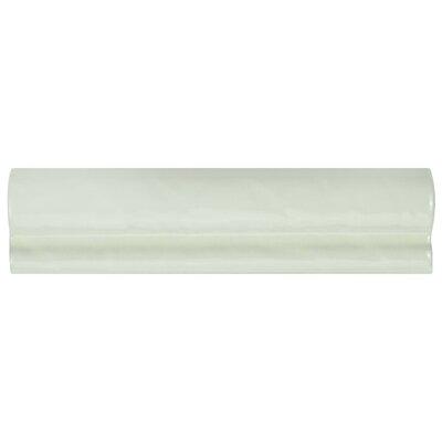 Avaricon Giorno 7.88 x 2  Ceramic Counter Rail Tile Trim in White