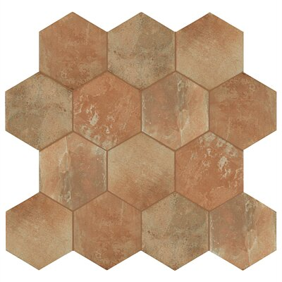Lincoln 11 x 12.75 Porcelain Field Tile in Tan/Beige/Brown