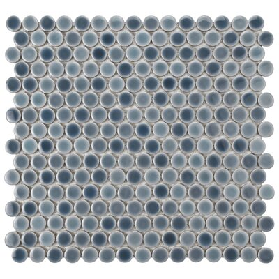 Penny 0.8 x 0.8 Porcelain Mosaic Tile in Gray