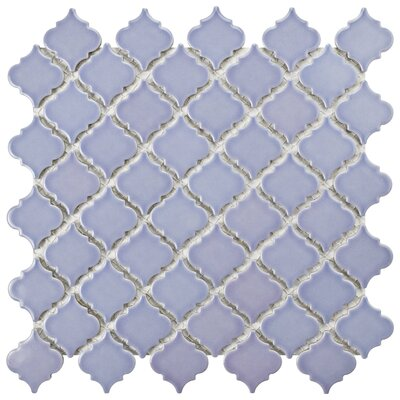 Pharsalia 2.25 x 2 Porcelain Mosaic Tile in Purple