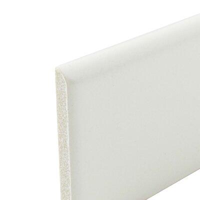 Retro 3.75 x 1.75 Porcelain Bullnose Tile Trim in Matte White
