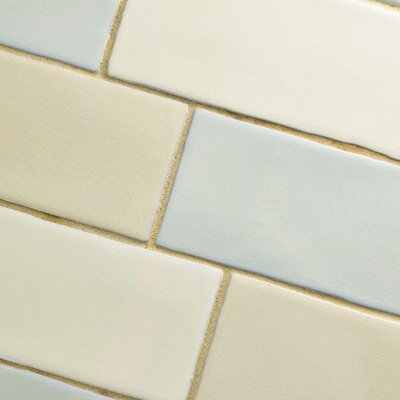 Anchorage 3 x 12 Ceramic Field Tile in Blue/Beige