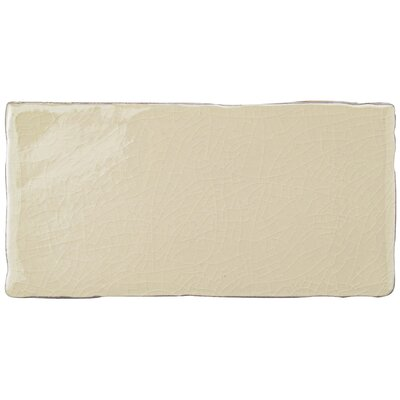 Antiqua 3 x 6 Ceramic Subway Tile in Blue/Cream