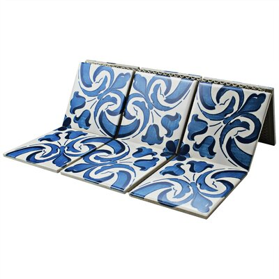 Melody Queen 3.83 x 3.83 Porcelain Mosaic in Blue/White