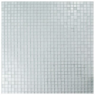 Sierra 0.88 x 0.88 Glass Mosaic Tile in Ice White