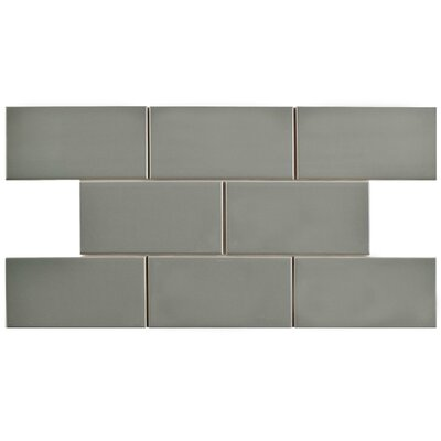 Prospect 3 x 6 Ceramic Subway Tile in Gray