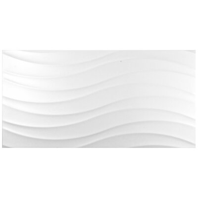 Silhouette 12.38 x 24.88 Ceramic Field Tile in White
