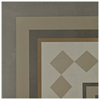 Grotta 7.88 x 7.88 Porcelain Field Tile in Gray/Yellow/Beige