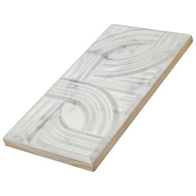 Karra Carrara 3 x 6 Ceramic Subway Tile in Glossy Metropolis White/Gray