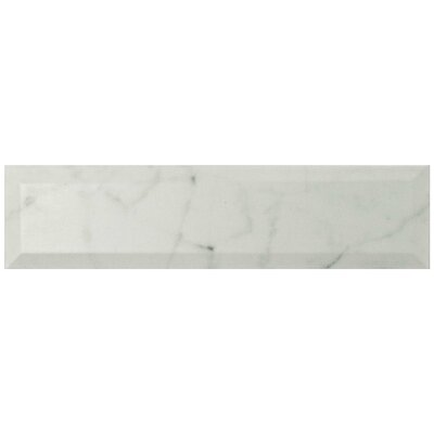 Karra Carrara 3 x 12 Ceramic Subway Tile in Matte Metro White/Gray