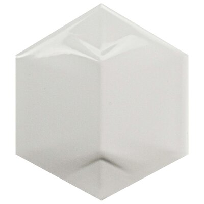Magie 3D Star 4.25 x 4.875 Ceramic Field Tile in White