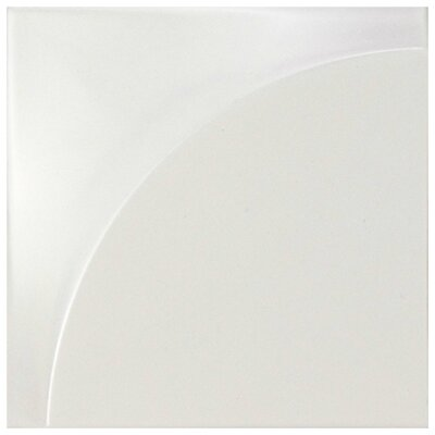 Magie 3D Curve 5.88 x 5.88 Ceramic Field Tile in White