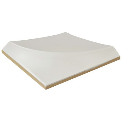 Magie 3D Curve 5.88 x 5.88 Ceramic Subway Tile in White