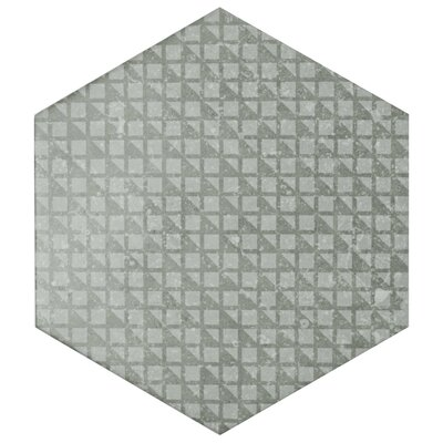 Lunastone Hexagon 10 x 11.5 Porcelain Field Tile Floor and Tile in Gray