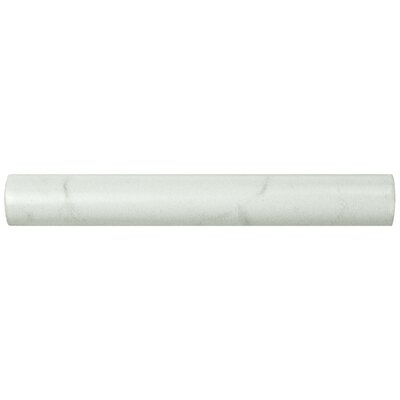 Karra Carrara 0.75 x 6 Ceramic Quarter Round Tile Trim in White/Gray