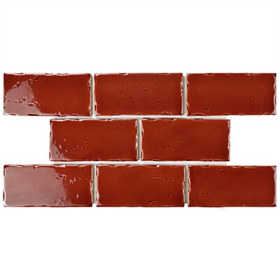 Frisia Subway 2.5 x 5.13 Ceramic Subway Tile in Burgundy