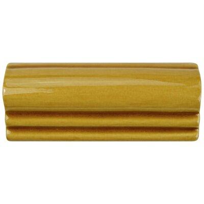 Frisia Moldura 2.13 x 5.13 Ceramic Counter Rail Tile Trim in Yellow
