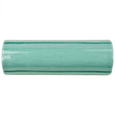 Frisia Bordura 1.63 x 5.13 Ceramic Quarter Round Tile Trim in Aqua