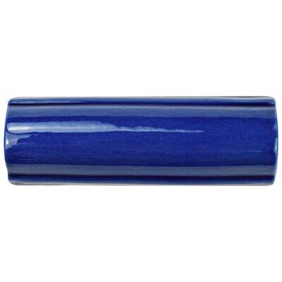 Frisia Bordura 1.63 x 5.13 Ceramic Quarter Round Tile Trim in Blue