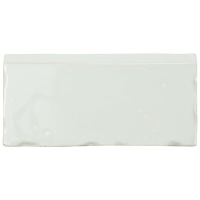 Frisia Zocalo 2.5 x 5.13 Ceramic Bullnose Tile Trim in White