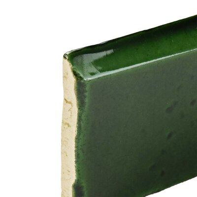 Frisia Zocalo 2.5 x 5.13 Ceramic Bullnose Tile Trim in Green