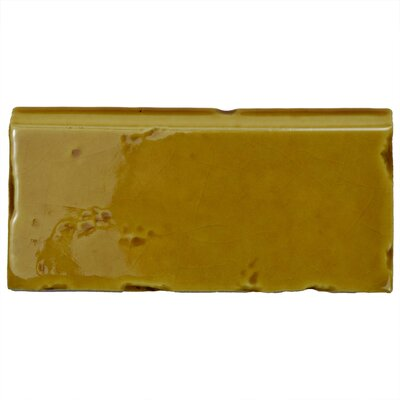 Frisia Zocalo 2.5 x 5.13 Ceramic Bullnose Tile Trim in Yellow