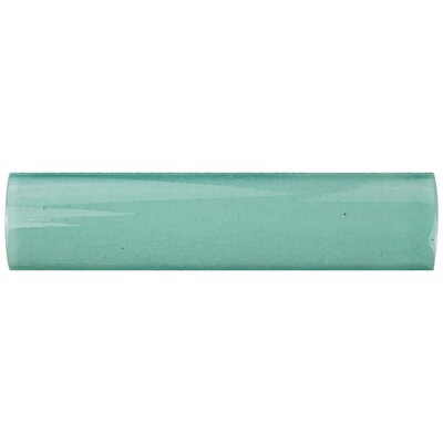 Frisia Cubrecantos 1.25 x 5.13 Ceramic Quarter Round Tile Trim in Teal