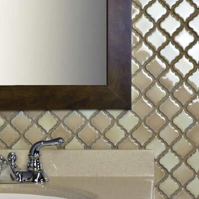 Pharsalia 12.38 x 12.5 Porcelain Mosaic Floor and Wall Tile in Truffle
