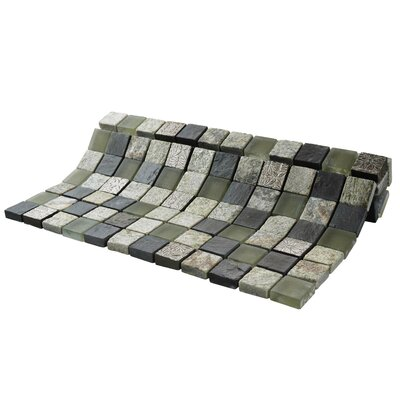 Abbey 0.88 x 0.88 Natural Stone and Metal Mosaic Tile in Fauna Verde