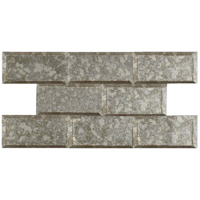 Lumin 3 x 6 Glass Subway Tile in Antique Mirror