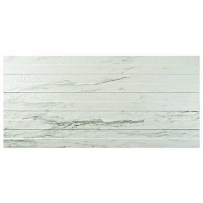 Marbre Carrara 12.88 x 25.63 Porcelain Field Tile in White