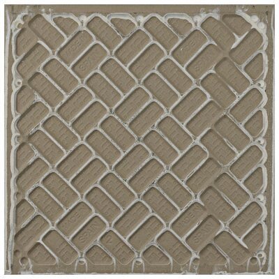 Helen 9.75 x 9.75 Porcelain Field Tile in Black/Green