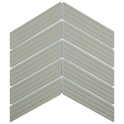 Retro Soho Chevron 1.75 x 7 Porcelain Subway Tile in Blue