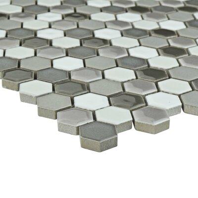 Astraea Hex 0.9 x 1.01 Porcelain Mosaic Tile in Luna
