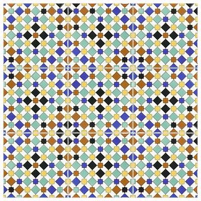 Hispalis 7.88 x 7.88 Ceramic Field Tile in Blue/Green