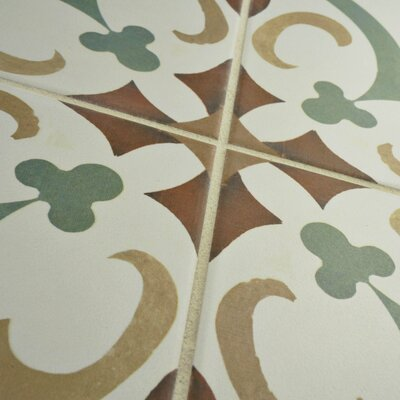Revive 7.75 x 7.75 Ceramic Field Tile in Sage Green and Off-White