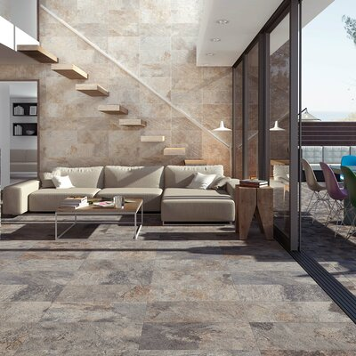 Arriba 12.5 x 24.5 Porcelain Field Tile in Ochre