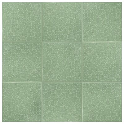 Huit 7.88 x 7.88 Ceramic Field Tile in Verde
