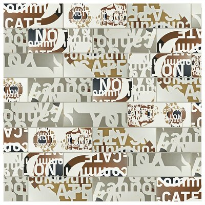 Graphique 6 x 15.75 Ceramic Field Tile in Beige