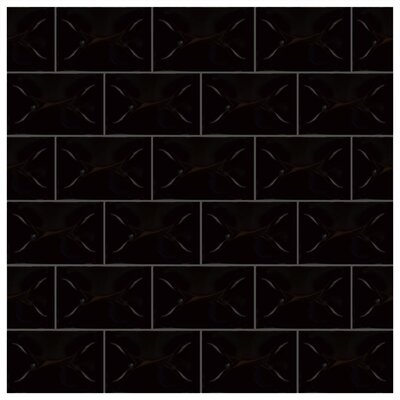 Frena 4 x 6 Ceramic Field Tile in Nero